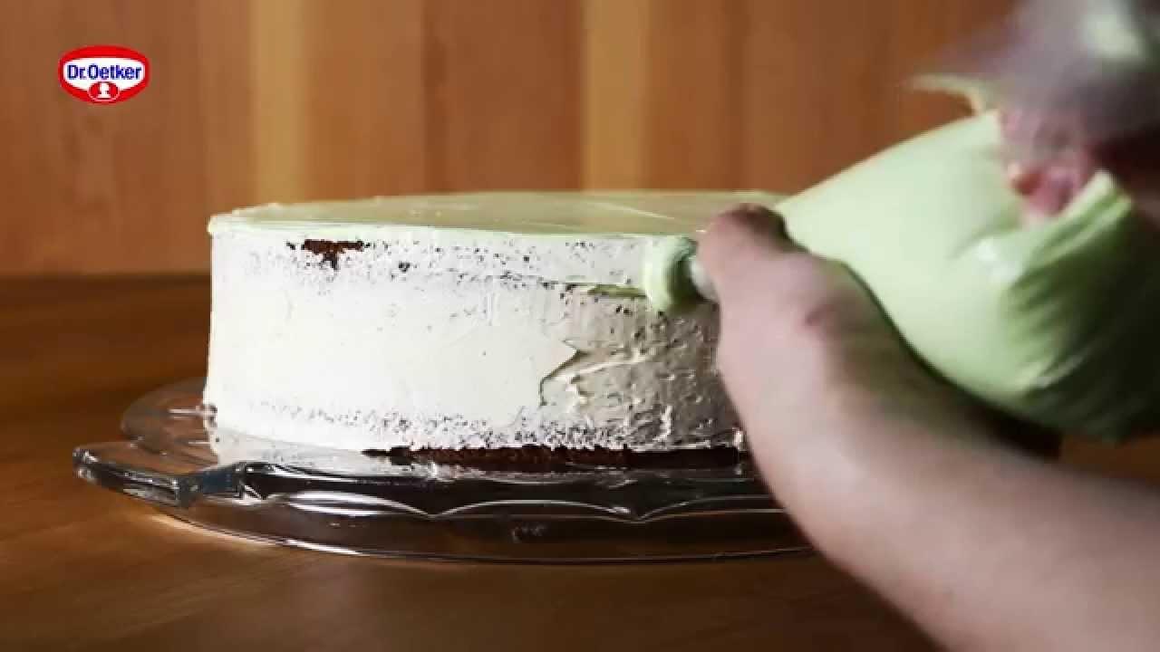 How to: Torte mit Buttercreme dekorieren - zweifarbig!