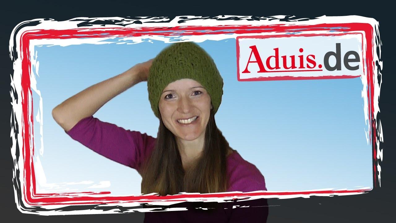 Trendige Mütze bzw. Beanie stricken - Videoanleitung auch für Anfänger