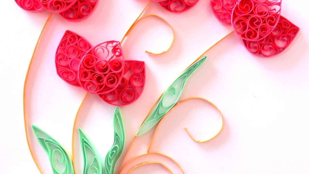 Zarte Lotusblumen Aus Quilling-Papierstreifen Basteln - DIY Crafts - Guidecentral