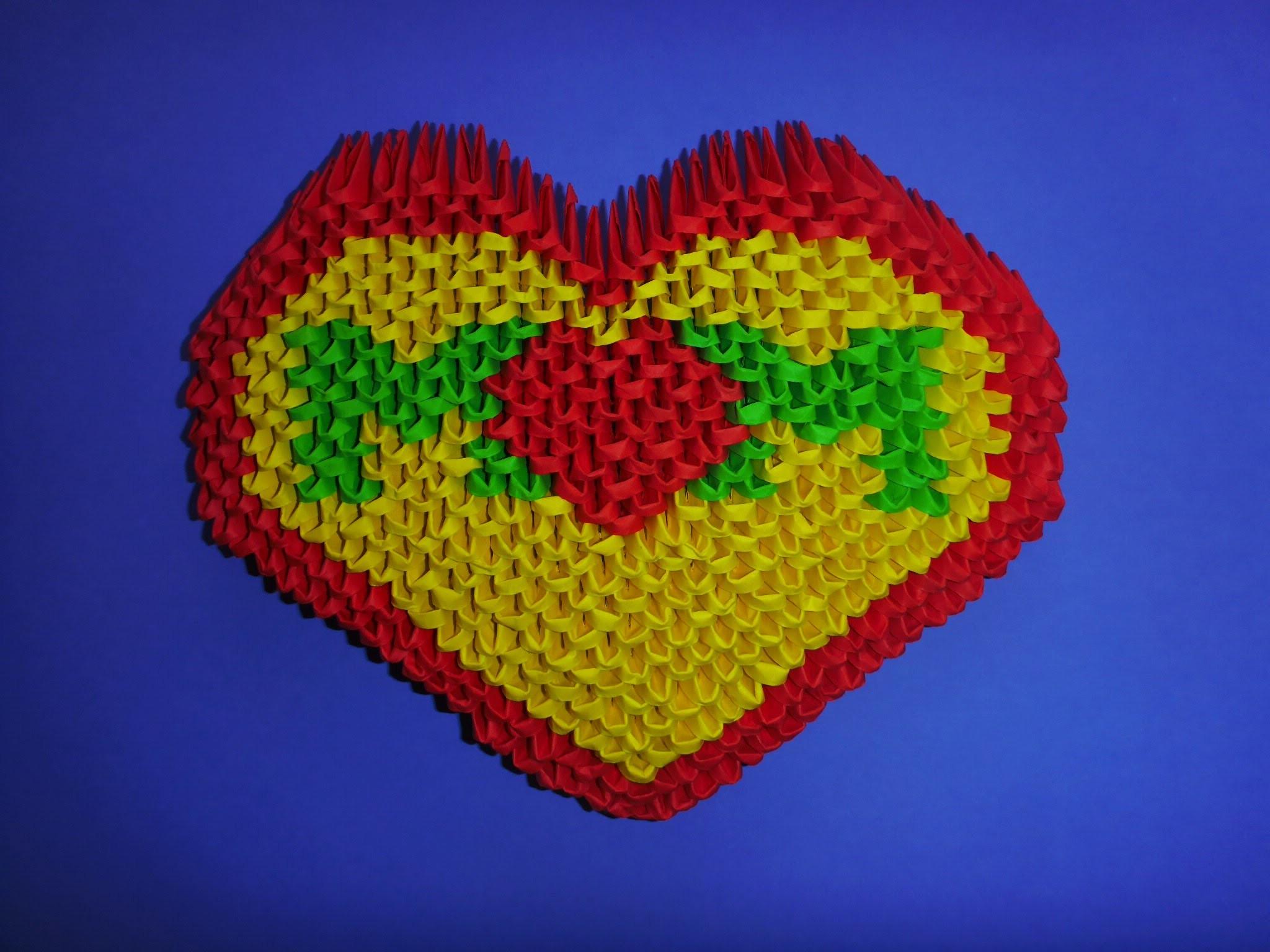 """DIY Origami 3D Herz """"MOM"""" Geschenk zum Muttertag, Geburtstag, Moter´s day Gift Ideas Heart Tutorial"""