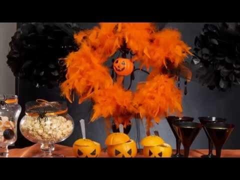 Orange Trend Dekoration DIY Tutorial für Halloween
