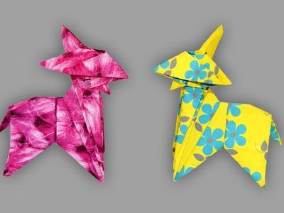 Origami Ziege (Goat) - Faltanleitung (Live erklärt)