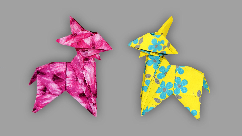 origami ziege goat faltanleitung live erkl rt. Black Bedroom Furniture Sets. Home Design Ideas