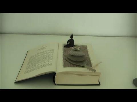 DIY: Zengarten Miniatur aus altem Buch basteln - Upcycling alte Bücher