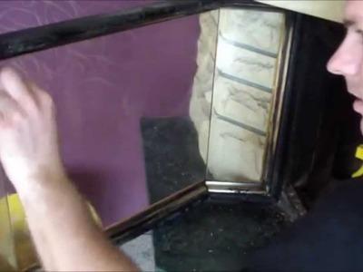 Glastür vom Kamin kostenlos reinigen. Wie? Tutorial  DIY