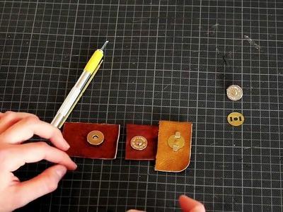 Gusti Leder Anleitung Magnetverschluss Verschluss Lederzubehör DIY Lederbasics