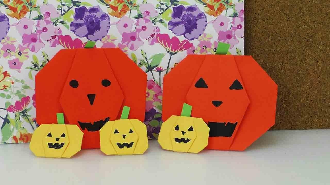 Origami Kürbis für Halloween | Papier Kürbisse falten | Halloween Deko | DIY