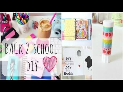 DIY BACK TO SCHOOL Room decor & School Supplies