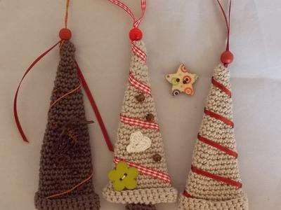 DIY Häkeln  Tannenbaum Hänger Weihnachten Mitbringsel Gratisanleitung