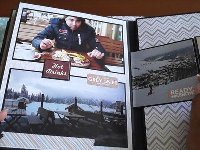 DCWV Winter in the woods - Scrapbook Mini Album