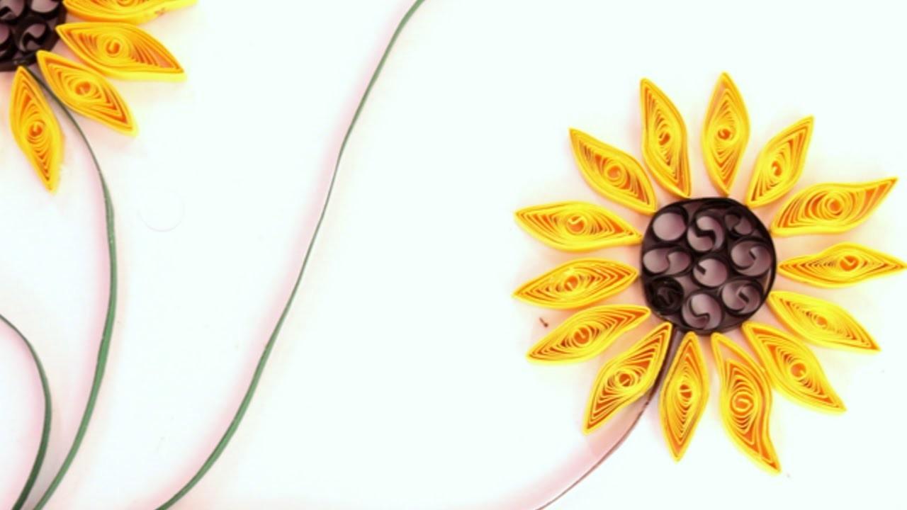 Eine Schöne Sonnenblume Aus Quillingpapier Machen - DIY Crafts - Guidecentral