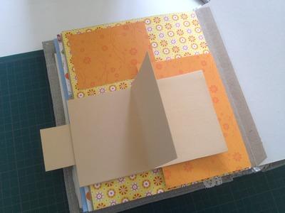 Kleiner, versteckter Wasserfall aus Fotos. Scrap-Seite. Gestaltung des Albums. DIY