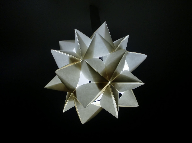 Papierlampe: Baufassung verkleiden mit Sternmuster - Tutorial [HD]