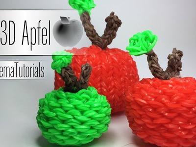 Rainbow Loom - 3D Apfel  ( 3 Größen )