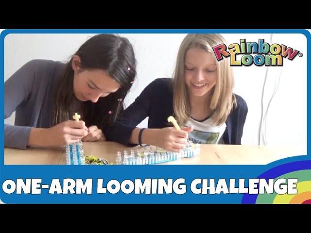 Rainbow Loom One-Arm-Looming Challenge - deutsch