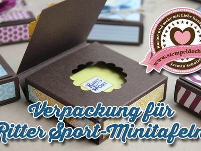 Tutorial: Verpackung für Ritter Sport Mini mit Stampin' Up!-Produkten