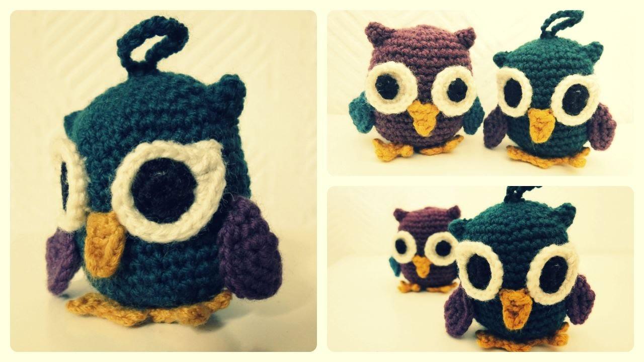 Eule häkeln * Anhänger * Owl Crochet [eng sub]