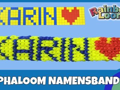 Rainbow Loom AlphaLoom Namensband - deutsche Anleitung