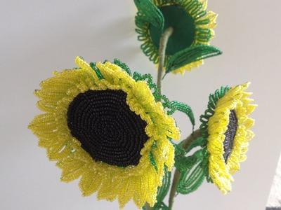 Sonnenblume aus Perlen. DIY. Teil 1.3