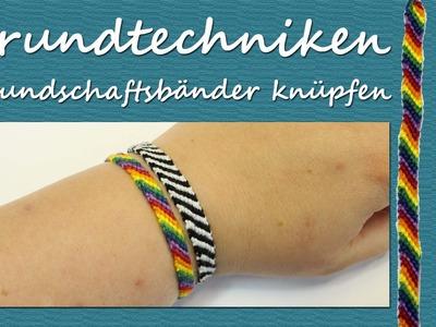 DIY Tutorial - Grundtechnik Freundschaftbändchen: Einfache Armbänder knüpfen | kreativBUNT