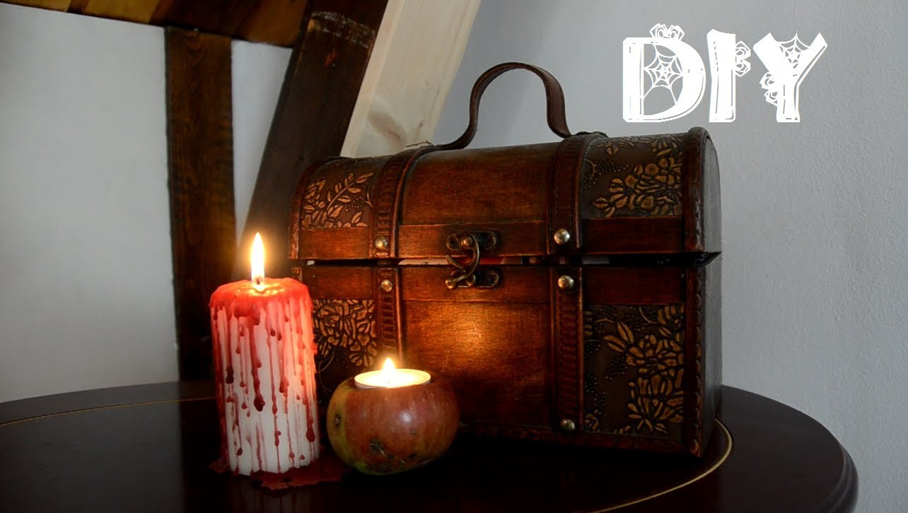 Spooky DIY: bloody candles and scary apples - Halloween: blutige und gruselige Kerzen [ger]