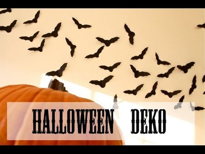 DIY I Halloween Fledermäuse