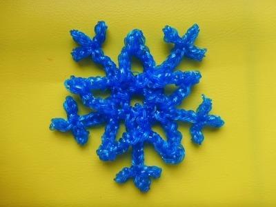 Schneeflocke Weihnachtsdeko Eiskristall Snowflake Weihnachten Loom Bands Anleitung