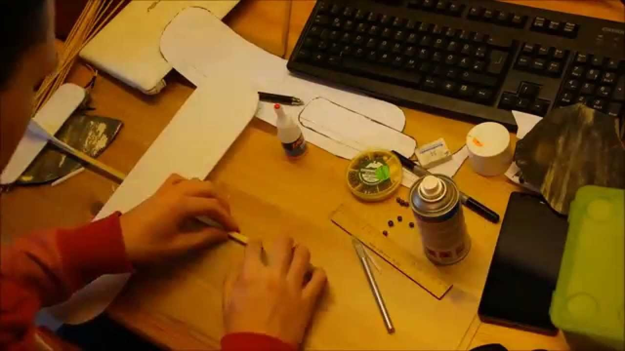 Building a Foam Glider DIY Flugzeug selber bauen Gleiter