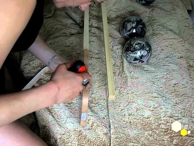 DIY Garderobe I: Schals in Plexiglas-Kugeln