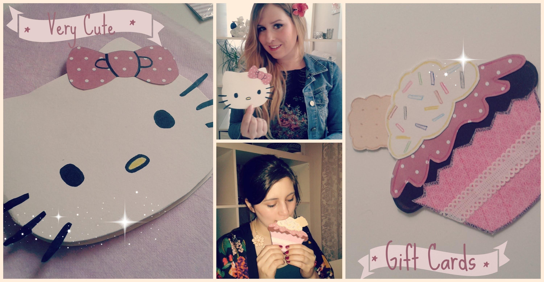 DIY Karten Cupcake und Hello Kitty
