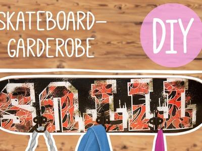 DIY mit Nina: Skateboard Garderobe selber Basteln!
