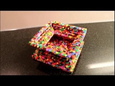 DIY: Bügelperlen 3D Vase ♥ Übertopf ♥ Schale ♥ Skulptur ☺ Steckperlen (Hama Ikea Perlen)