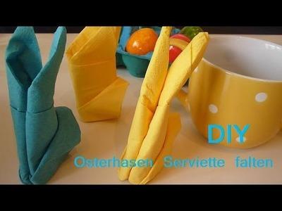 DIY Oster-Hasen-Serviette falten ^,^ (einfach, leicht, schnell)