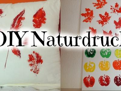 DIY mit Naturmaterialien drucken I Herbstdeko Teil4