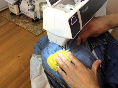 Jeans Aid Kit: Lochpflaster – DIY Tutotrial – walterlunzer.com