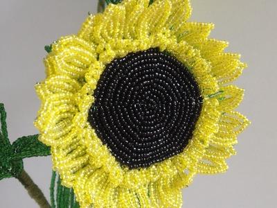 Sonnenblume aus Perlen. DIY. Teil 2.3. Anna's Perlen