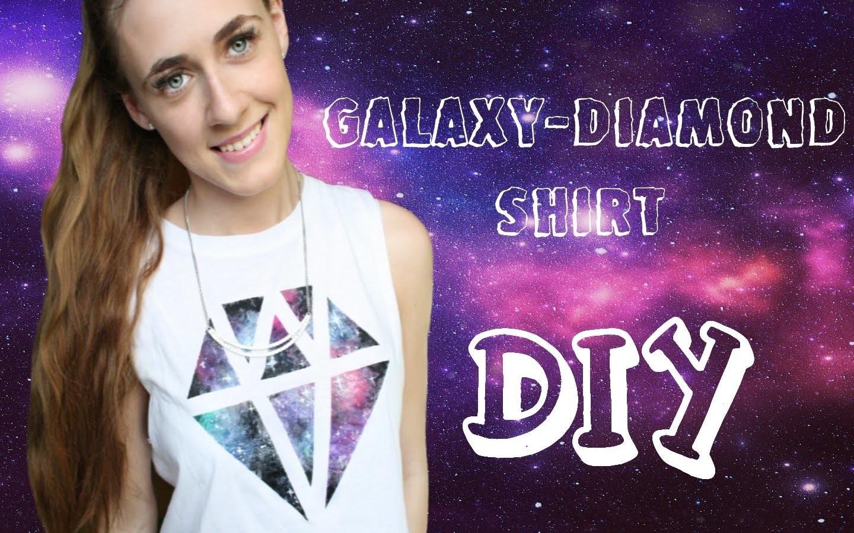DIY | Galaxy-Diamond T-shirt