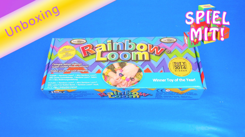 Rainbow Loom Unboxing deutsch Starter Kit Review Original Rainbow loom Set
