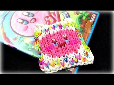 DIY Ideen Loom Bands - Untersetzer Kirby und der Regenbogenpinsel