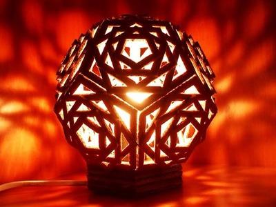 Eine Schöne Geometrische Lampe Aus Karton Herstellen - DIY Home - Guidecentral