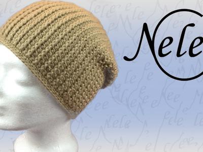 Mütze häkeln im Rippenmuster - gehäkeltes Bündchen, Häkelmütze für Anfänger, DIY Anleitung by NeleC.