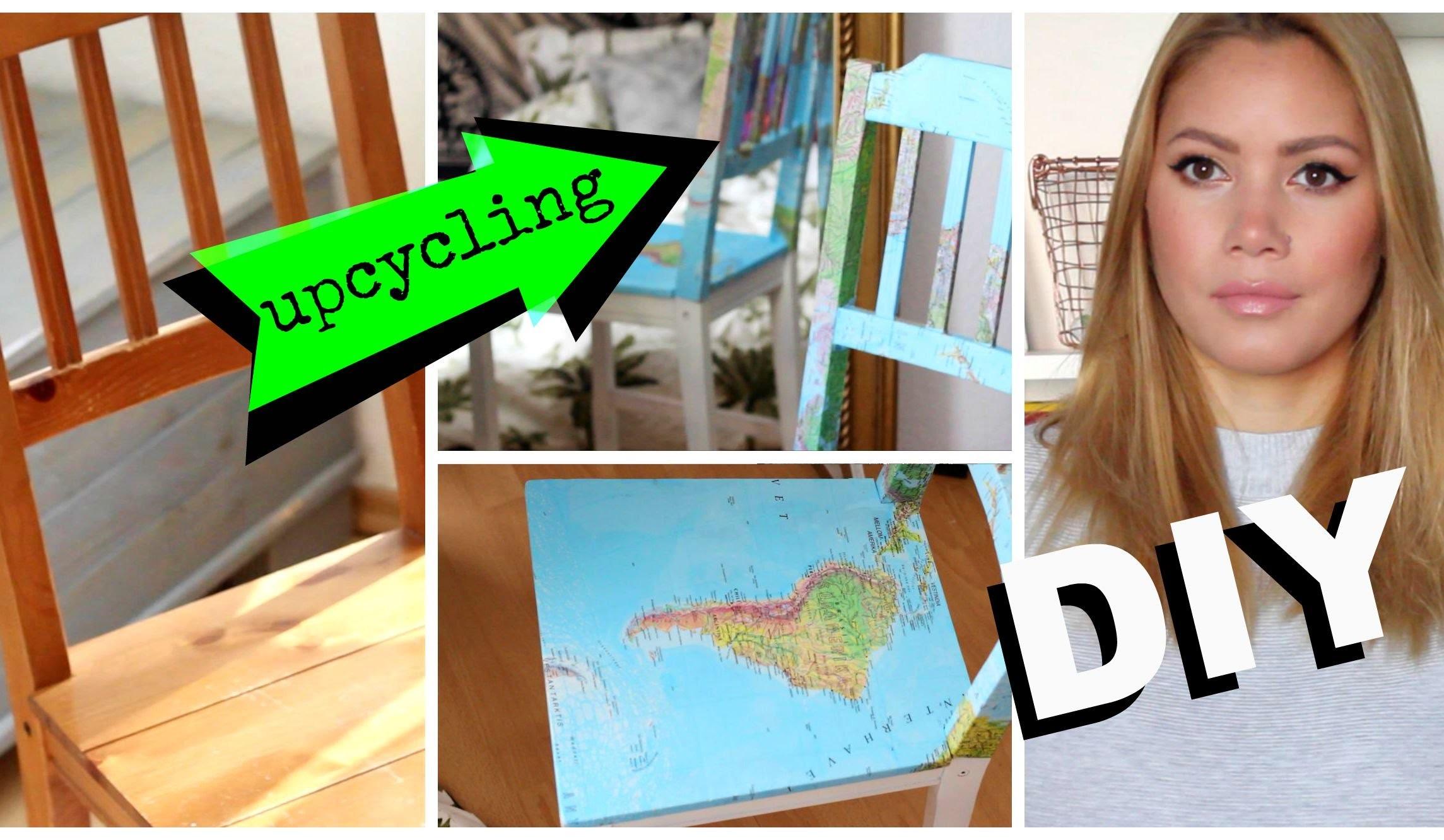DIY MAP STUHL - Upcycling | funnypilgrim