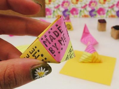 Origami 3D Dreiecke | modulares Origami mit drei Teilen | PLUS: Musterpapier selber machen