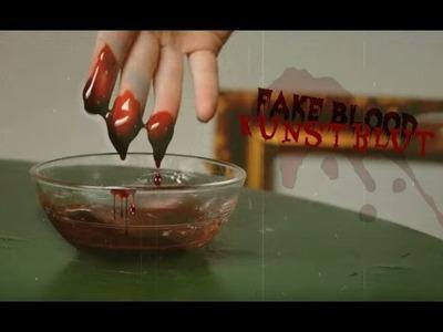 Halloween DIY: Kunstblut. Fake Blood - edible ESSBAR [eng sub]