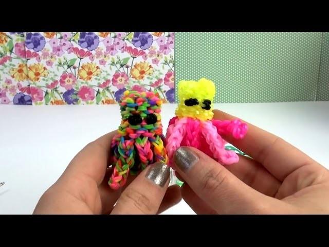 Rainbow Loom 3D Octupus Charm | Krake 3D Anhänger mit dem MonsterTail Anleitung | deutsch