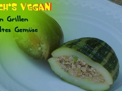 Vegan grillen - gefülltes Gemüse - Grillen im Garten - vegane Rezepte von Koch's vegan