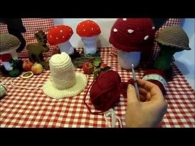 DIY:keka # DEKO Pilz häkeln und filzen ,verfilzen # OKTOBERFEST.HERBST DEKO in FILZ