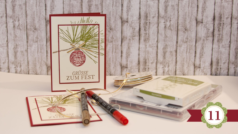 DIY - 12 Karten bis Weihnachten - #11 - Stampin' Up!