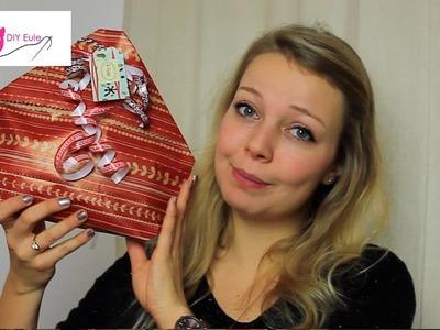 DIY Eule: Geschenktüte aus Papier basteln