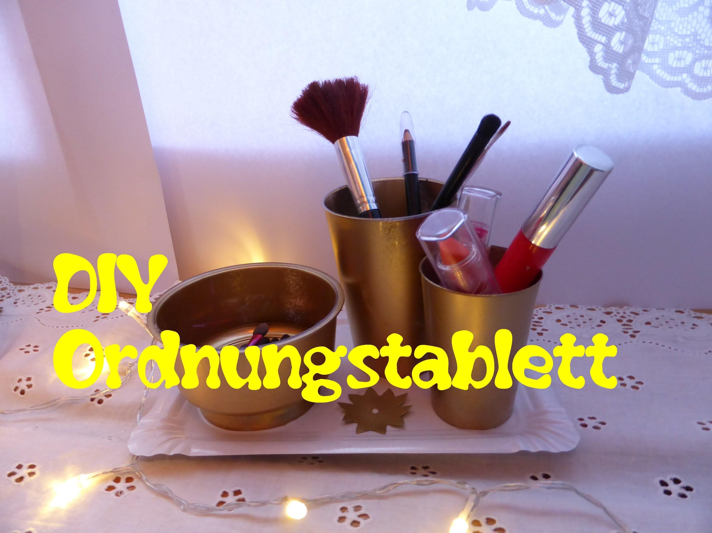 DIY elegantes Ordnungstablett für Make-up,Schreibzeug,.